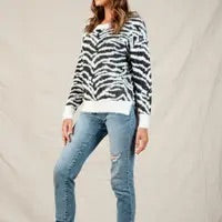 White Zebra Sweater