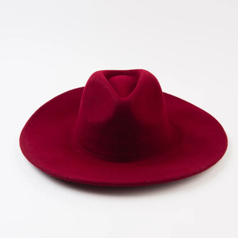 Wine Wool Fedora
