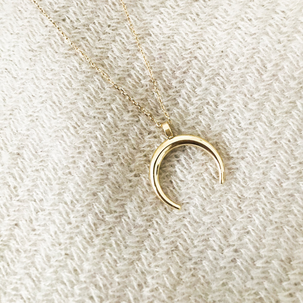 Gold Half Moon Necklace - Saradee Boutique