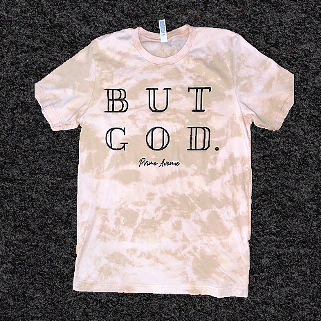 Desert Bleached Acid Wash BUT GOD T-Shirt