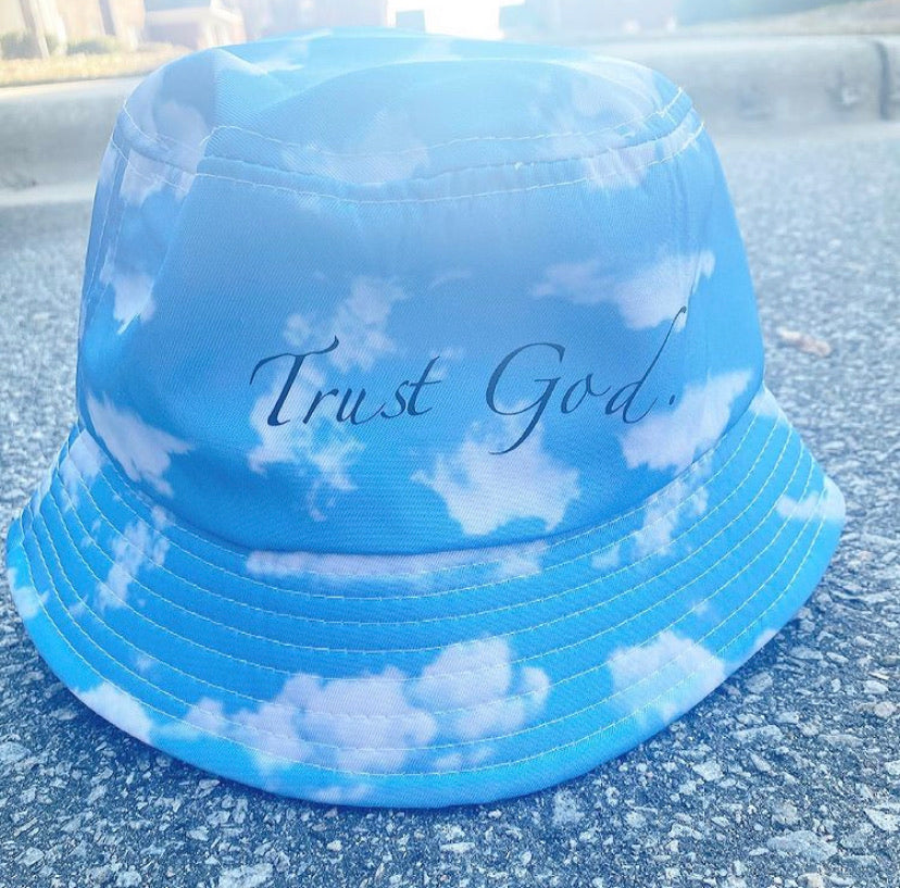 Cloud Trust God Bucket Hat