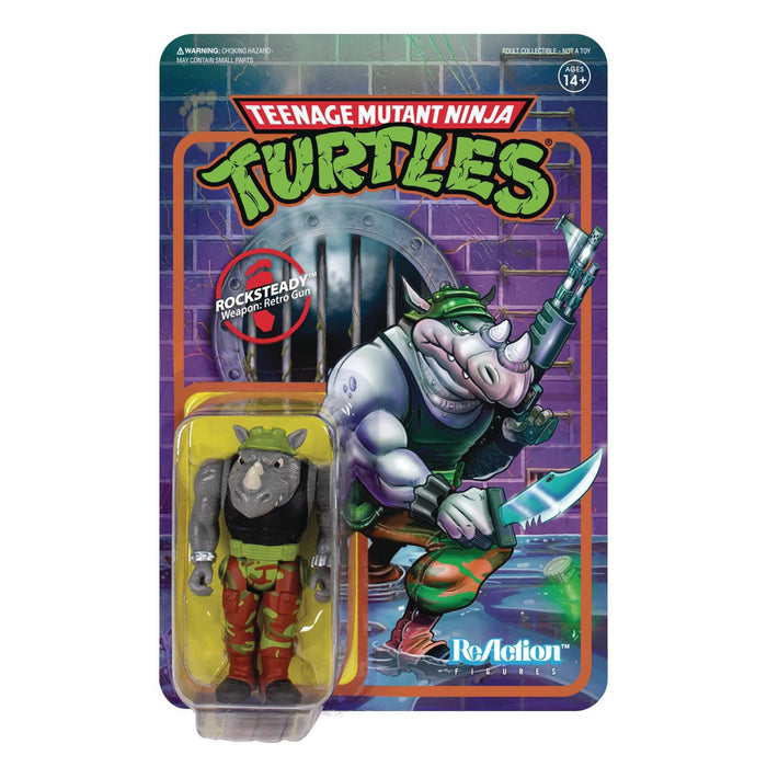 TMNT ROCKSTEADY REACTION FIGURE