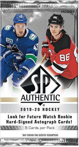 UD SP AUTHENTIC HOCKEY 19/20 (5/18/16)