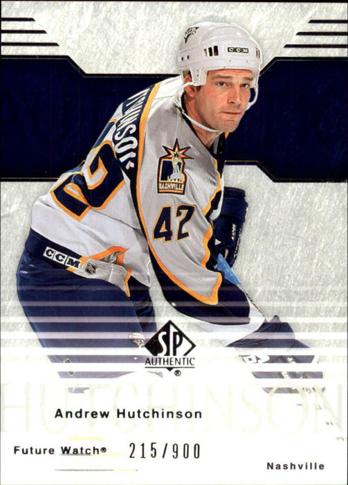2003-04 SP Authentic #91 Andrew Hutchinson RC