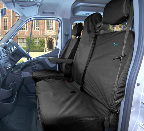 RMFSBLK Vauxhall Movano Driver and Double Seat Covers