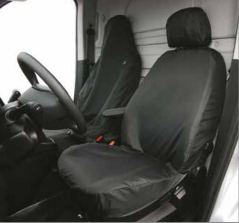 Tailored Fit Black Driver Front Folding Passenger Seat Covers for Citroen Nemo