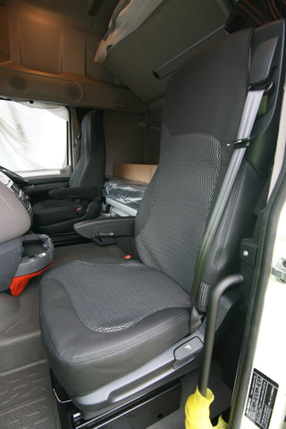 DAF XF - Euro 6 - Premium Leatherette Seat Covers - Driver / Single Passenger