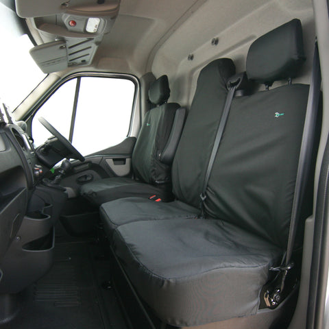 Front Seat Cover Set - Double Seat Has Split Base for Under Seat Storage - RMFS2