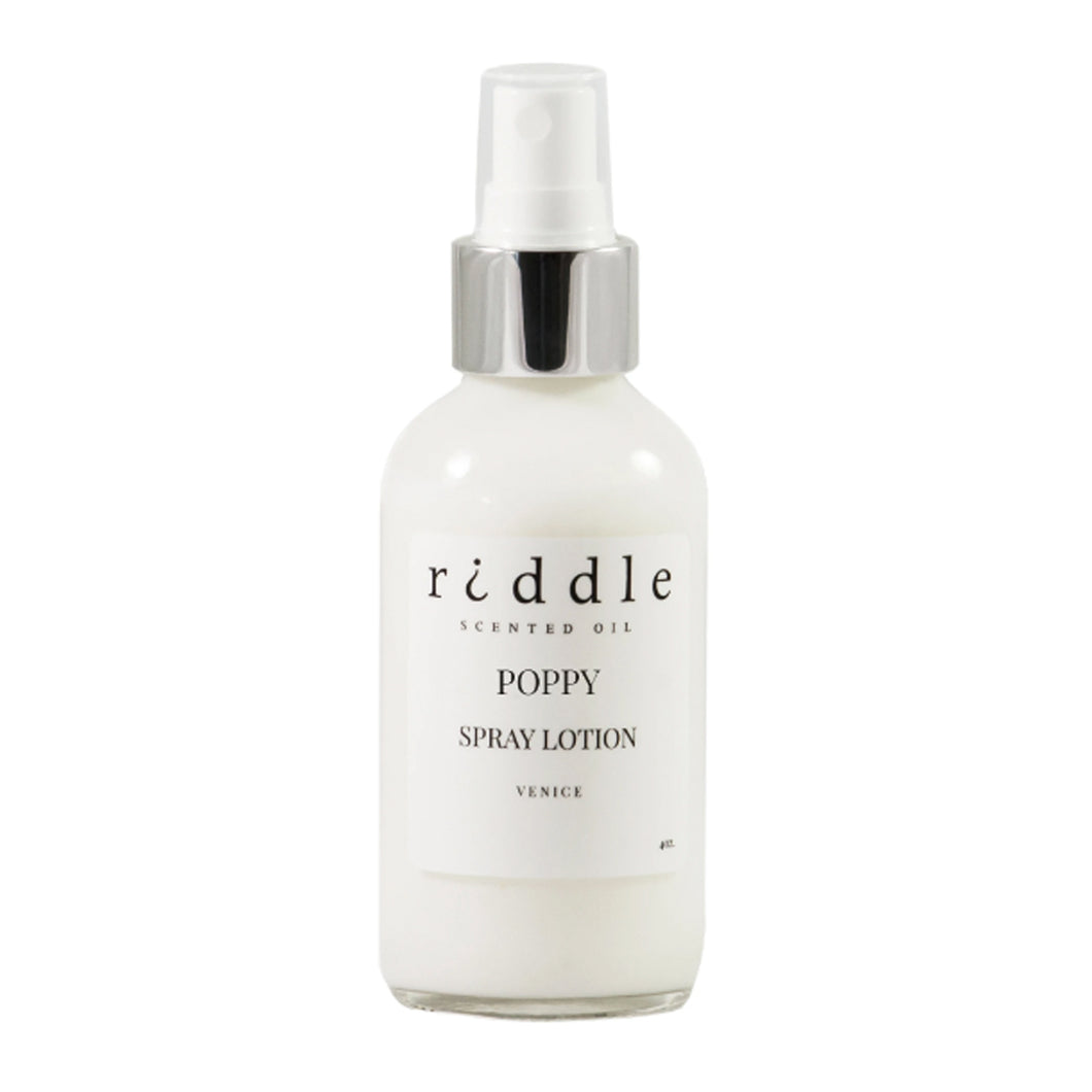 Poppy / Scented Spray Lotion / 4oz
