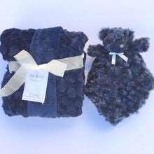 Load image into Gallery viewer, This My Baby Boutique™ soft, plush cozy fleece blanket can be used for tummy time on the floor or in a stroller, and the stuffed animal security blanket will become your baby's best friend. Together these items will help keep your baby warm, and cozy.
