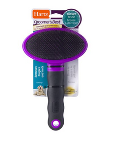 The most fundamental dog grooming tool for every day de-shedding. Fine thin bristles remove loose hair and help to distribute natural oils that keep your pet's coat healthy and shiny. Your pooch will enjoy being pampered.