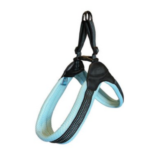 Our Soft padded mesh material no-choke design harness connects the leash on the dog's chest area, not on their back, which provides superior comfort and breathability for your everyday walking in any climate and makes your walks way more gentle. So when your dog pulls, they instantly face you - which discourages them from pulling and makes your walks way more gentle.
