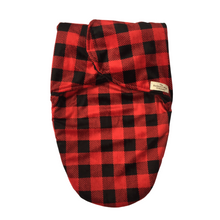 Load image into Gallery viewer, Help your newborn sleep soundly and safely with this soft swaddle bag from The Northern Wear Company. This luxurious wrap envelopes baby to create a comforting close fit that mimics the womb.