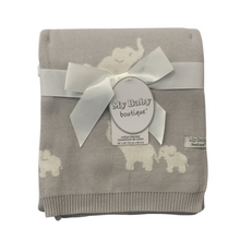 Load image into Gallery viewer, My Baby Boutique™ Grey Elephant Blanket