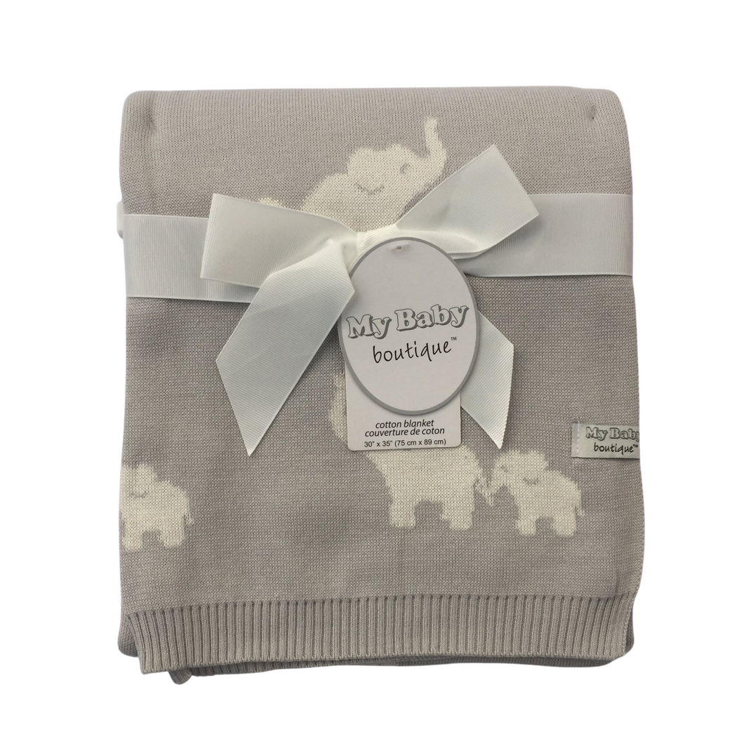 My Baby Boutique™ Grey Elephant Blanket