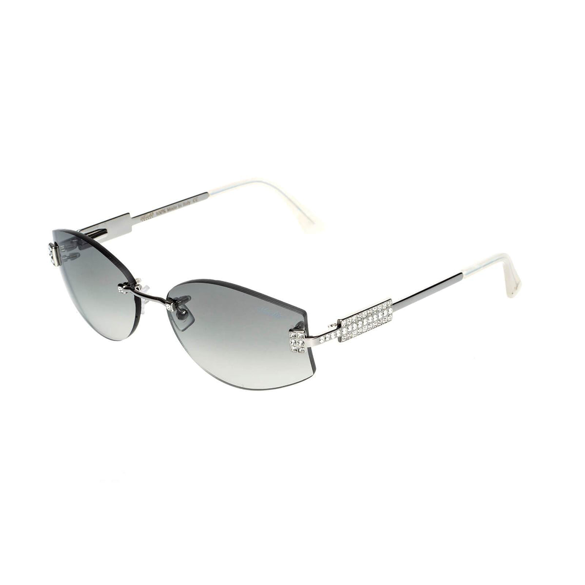 Miché Empress Sunglasses - Grey - Silver - White