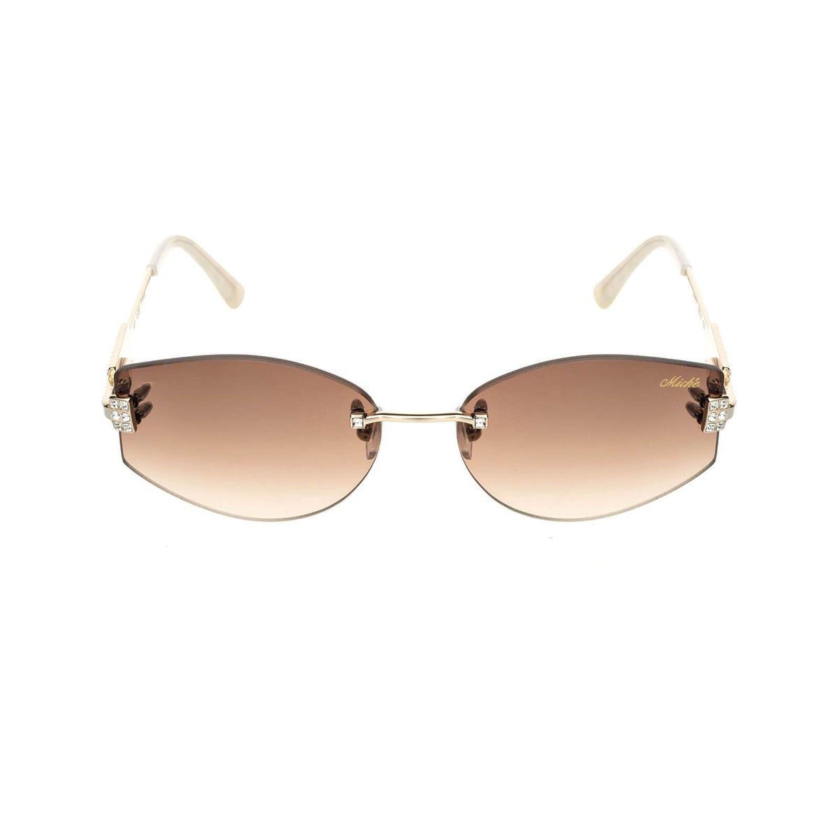 Miché Empress Sunglasses - Brown - Silver - White