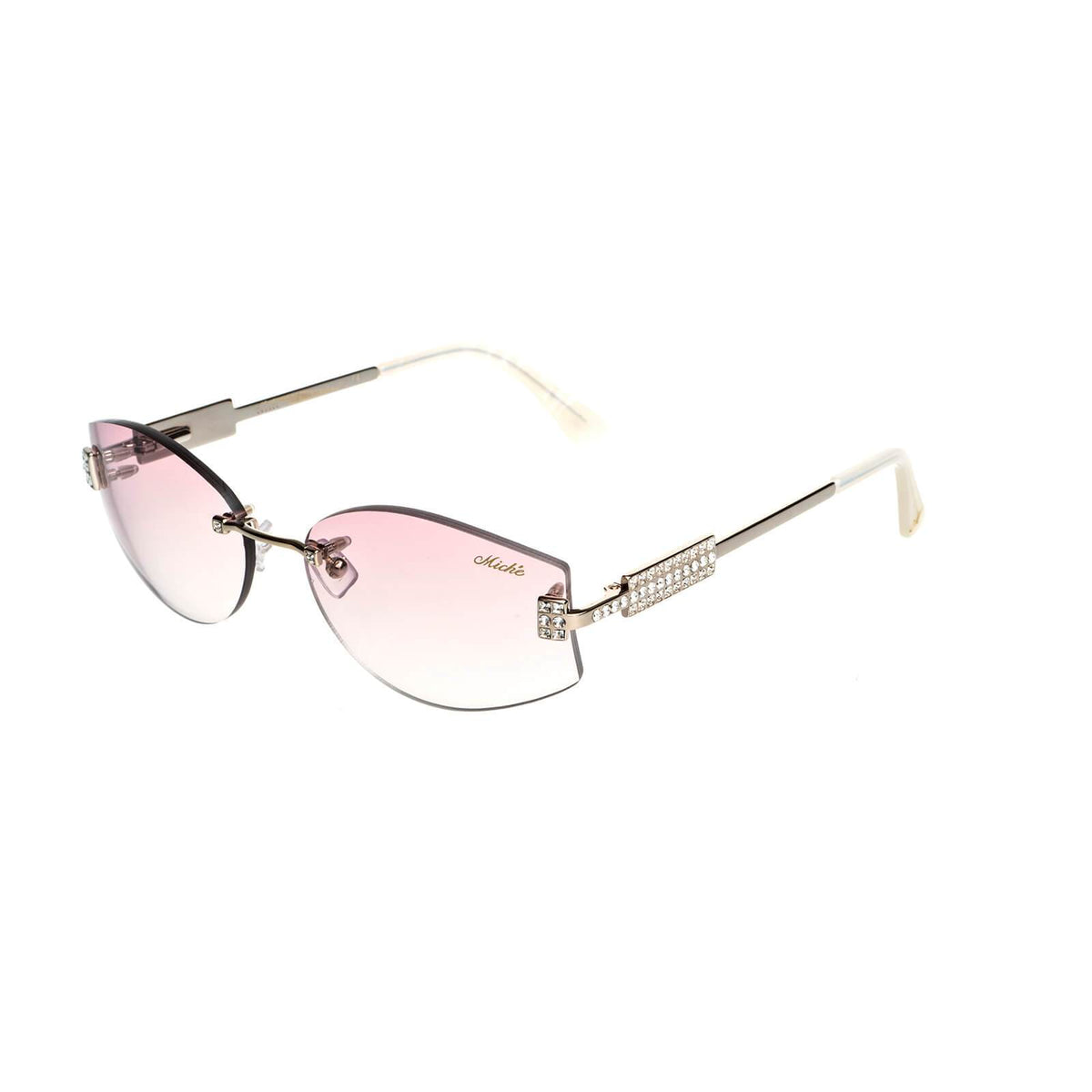 Miché Empress Sunglasses - Pink - Gold - White