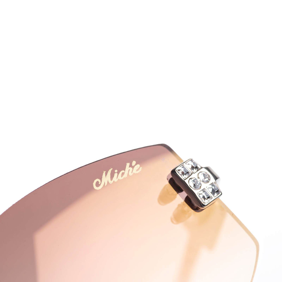 Miché Empress Sunglasses - Pink - Silver - White