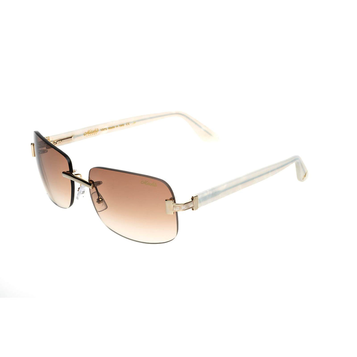 Miché Marbles Sunglasses - Brown - Gold - White