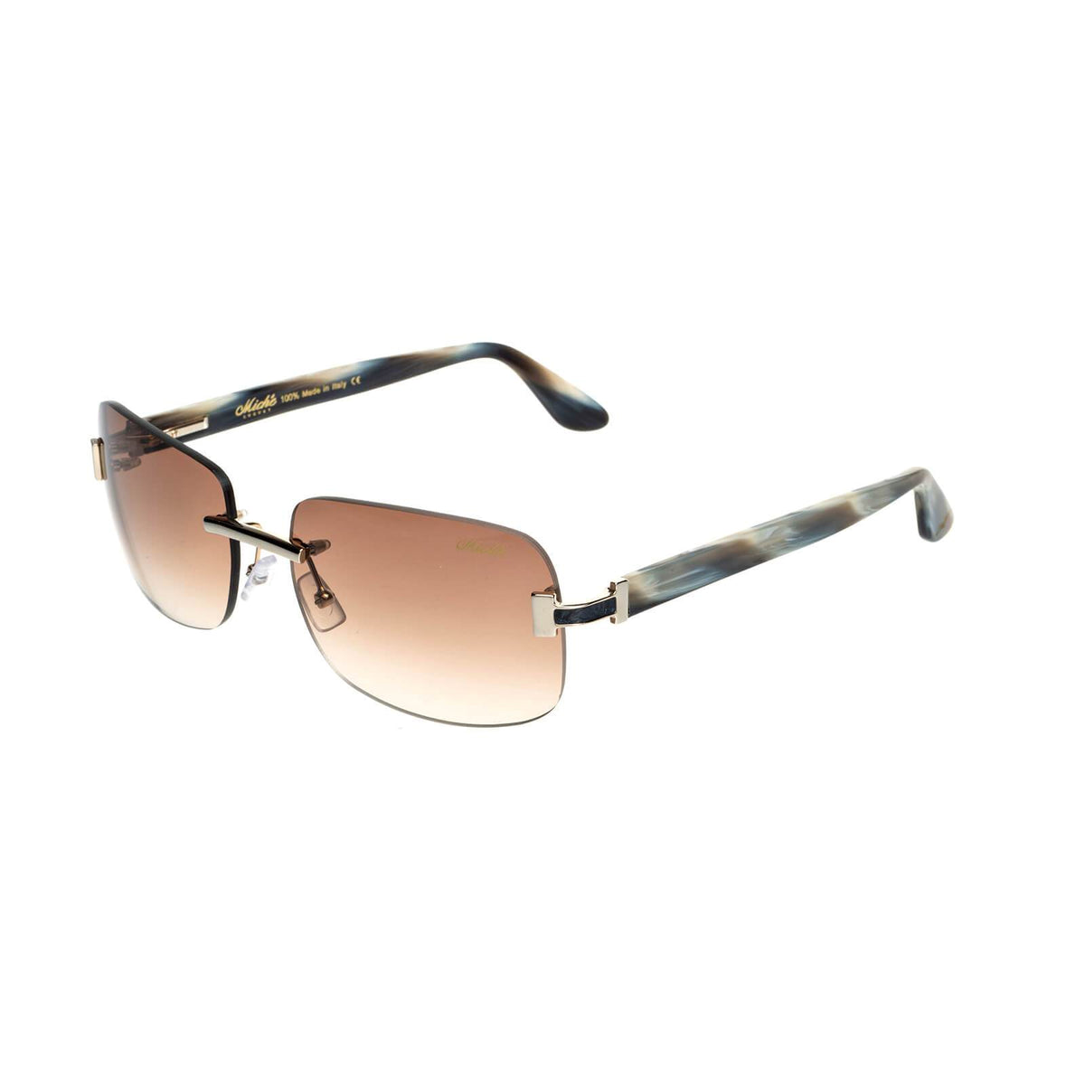 Miché Marbles Sunglasses - Brown - Gold - Black