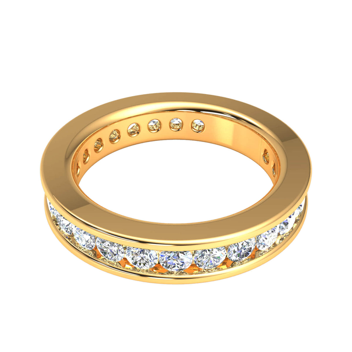 2.33 Ct Bridal Women's Round H SI2 Diamond Eternity Wedding Band 10k Gold