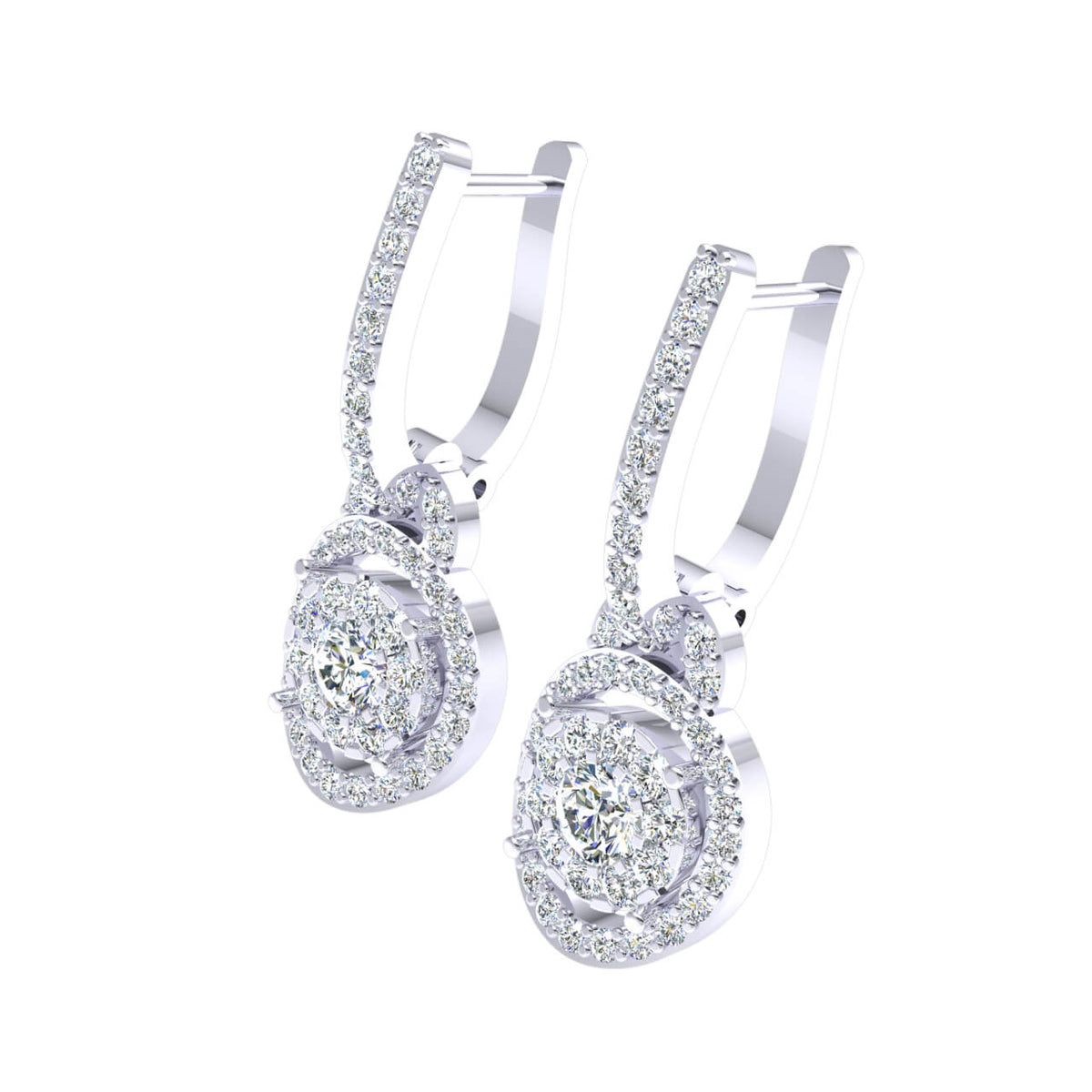 1.25 Ct Huggies Round GH I1-I2 Diamond Fancy Earrings For Womens 925 Sterling Silver