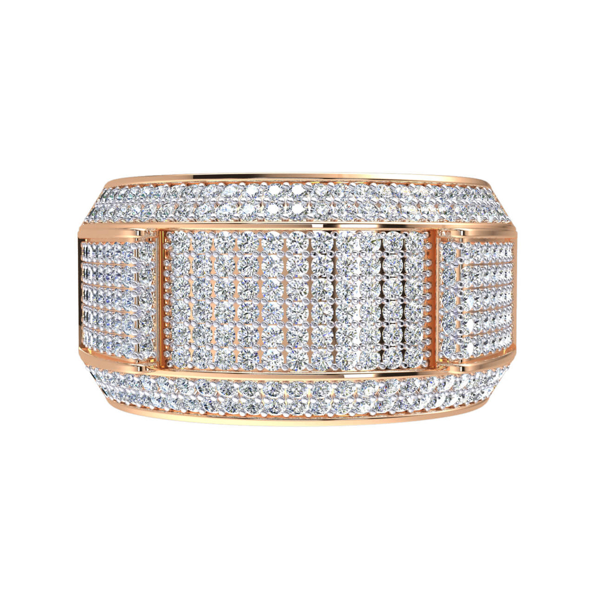 1.50 Ct Natural Diamond H Si2 Men's Pinky Ring in 10k Gold