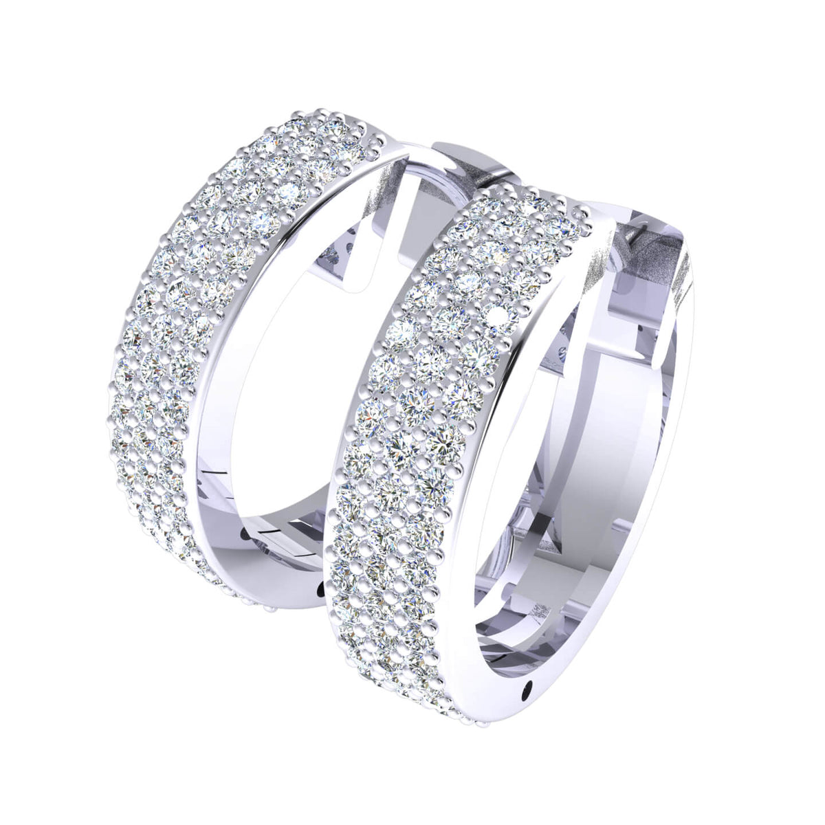 0.70 Ct Round GH I1-I2 Diamond Huggies Unisex Hoop Earrings 925 Sterling Silver