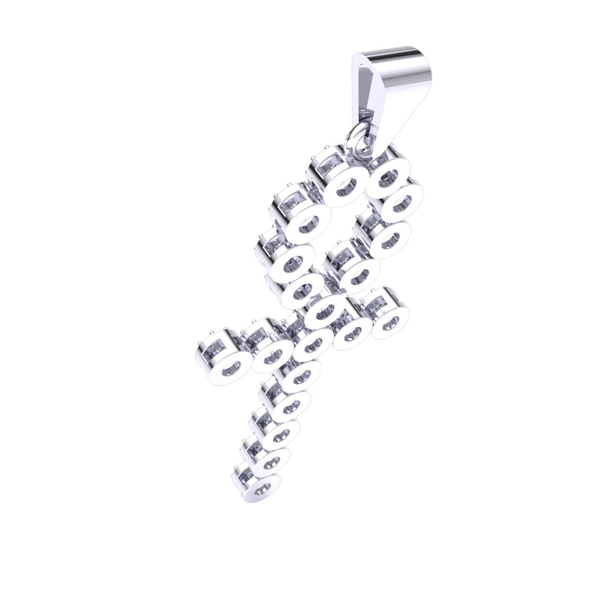 1.00 Ct Ankh Cross Round H SI2 Diamond Religious Pendant For Adults 10k Gold