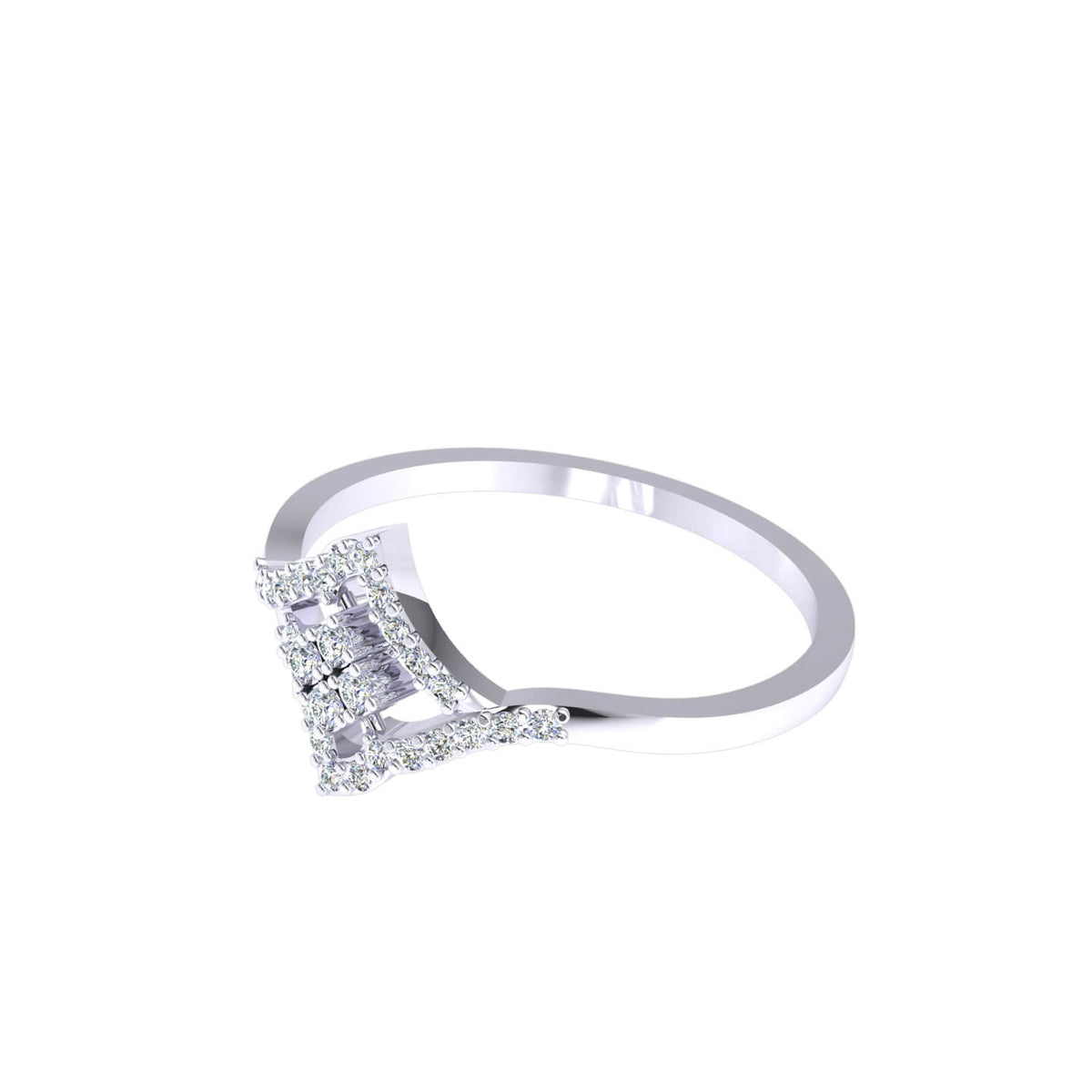 0.15 Ct Round GH SI1 Diamond Halo Cluster Fancy Ring For Women 10k Gold