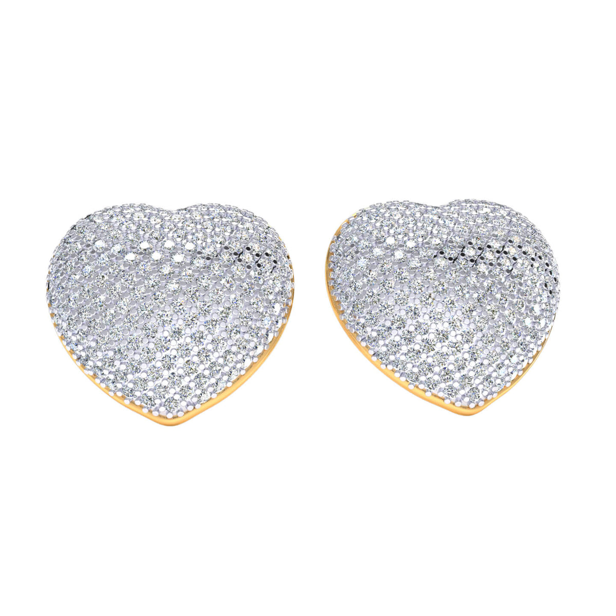 1.50 Ct Heart Round GH I1-I2 Diamond Stud Earrings For Adults 925 Sterling Silver