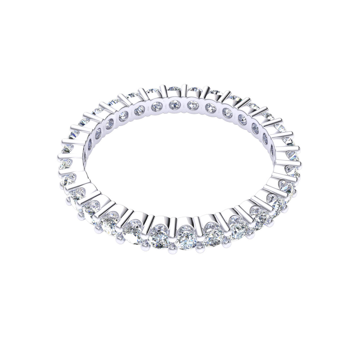 1.00 Ct Women's Round FG VS Diamond Stackable Eternity Wedding Band 14k Gold