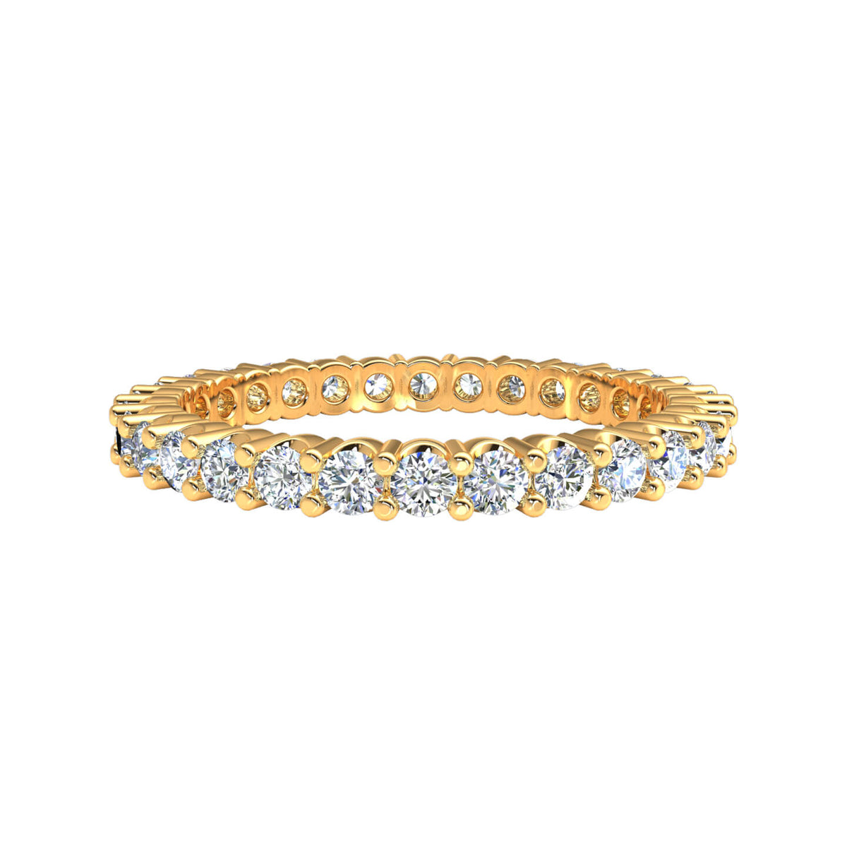 1.00 Ct Women's Round GH SI1 Diamond Stackable Eternity Wedding Band 10k Gold