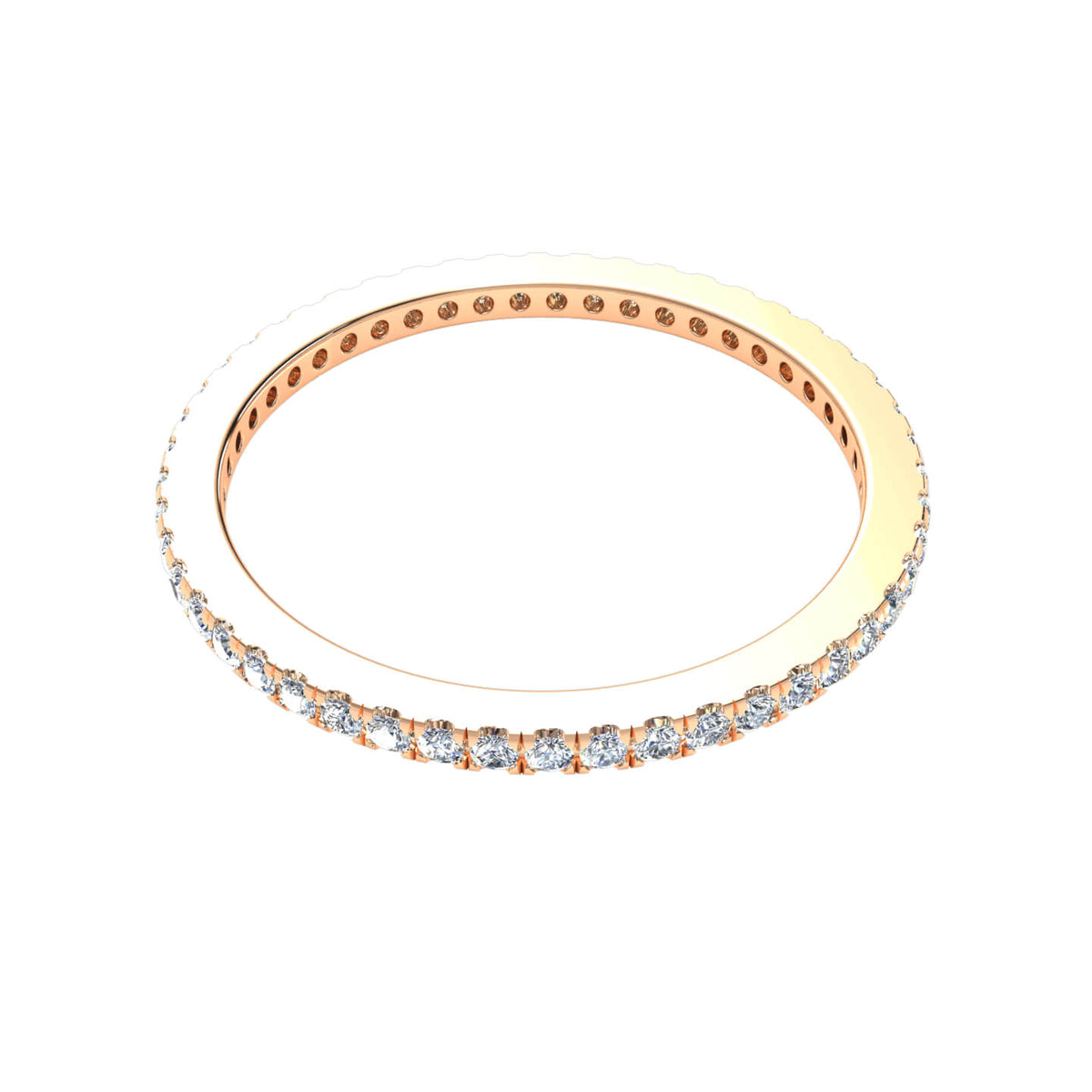 0.50 Ct Round FG VS Diamond Classic Eternity Wedding Band For Women 14k Gold