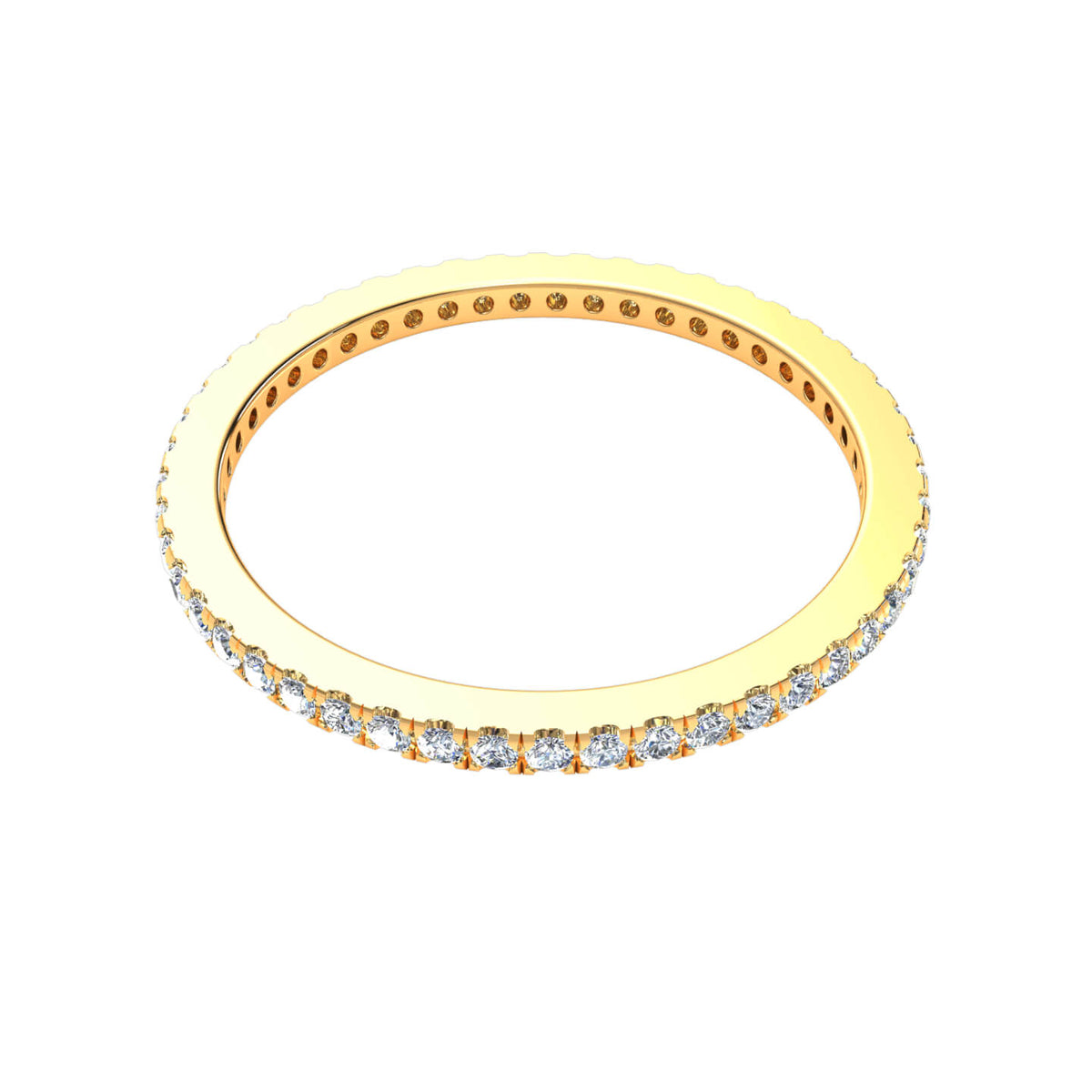 0.50 Ct Round GH SI1 Diamond Classic Eternity Wedding Band For Women 10k Gold