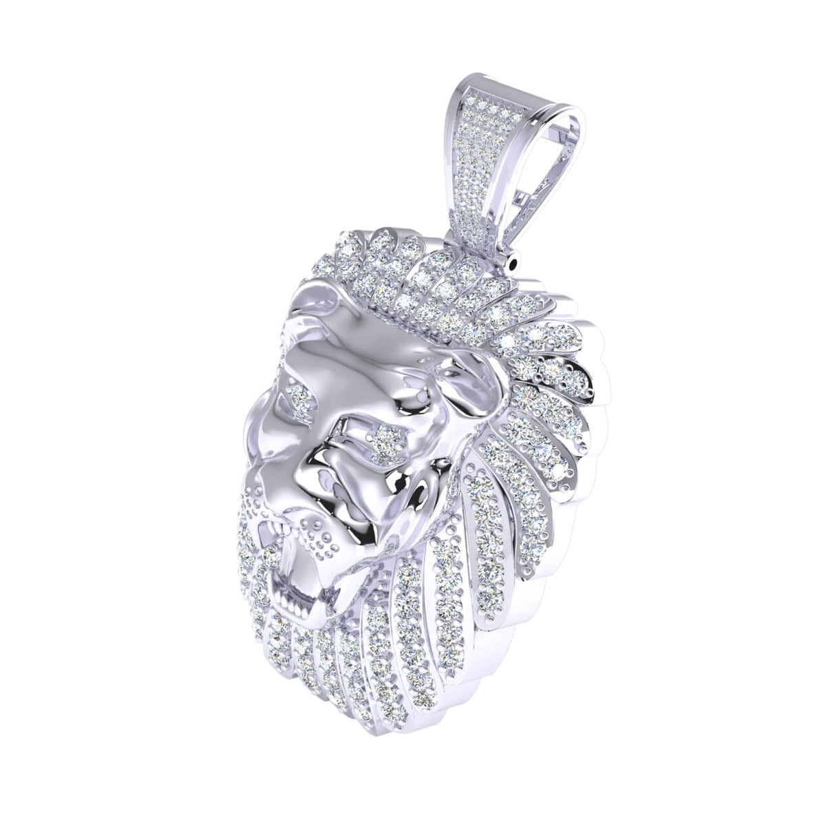3.75 Ct Hip Hop Charm Pendant For Adults Round GH SI1 Diamond 10k Gold