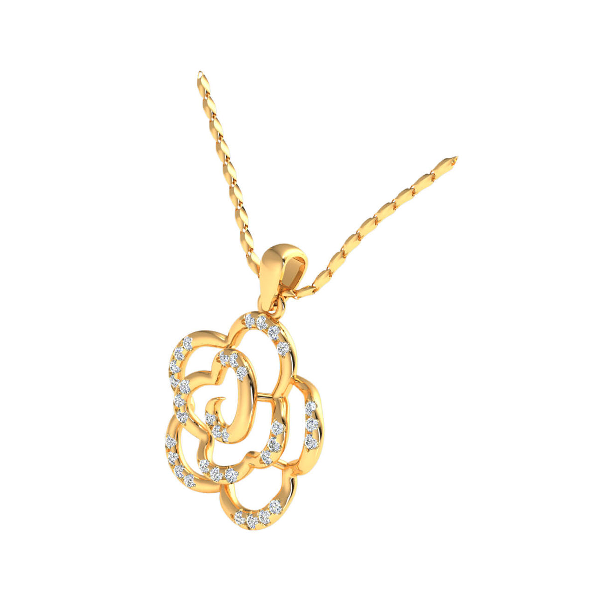 0.33 Ct Drop Fancy Pendant For Women Round FG VS Diamond 14k Gold