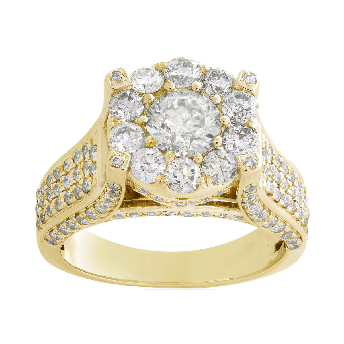 Miché Collection 2.26 Ct Diamond Halo Cluster Engagement Ring Set in 14k Gold