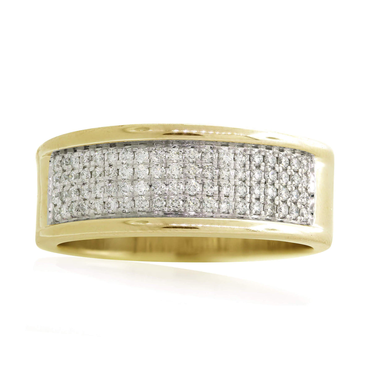 Miché Collection 0.74 Ct Diamond Micro Pavé Set Mens Ring in 10k Gold