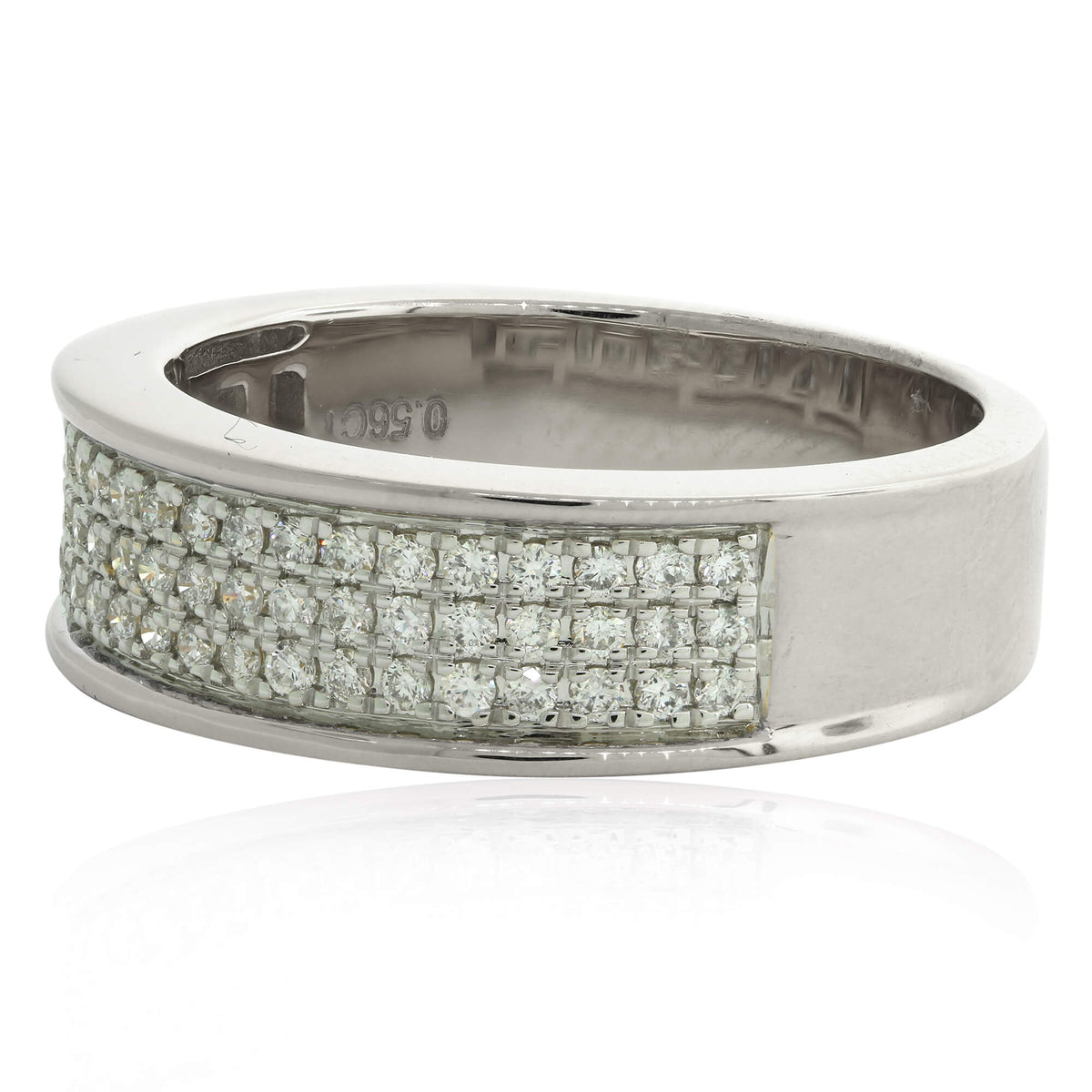 Miché Collection 0.56 Ct Diamond Micro Pavé Set Mens Ring in 14k Gold