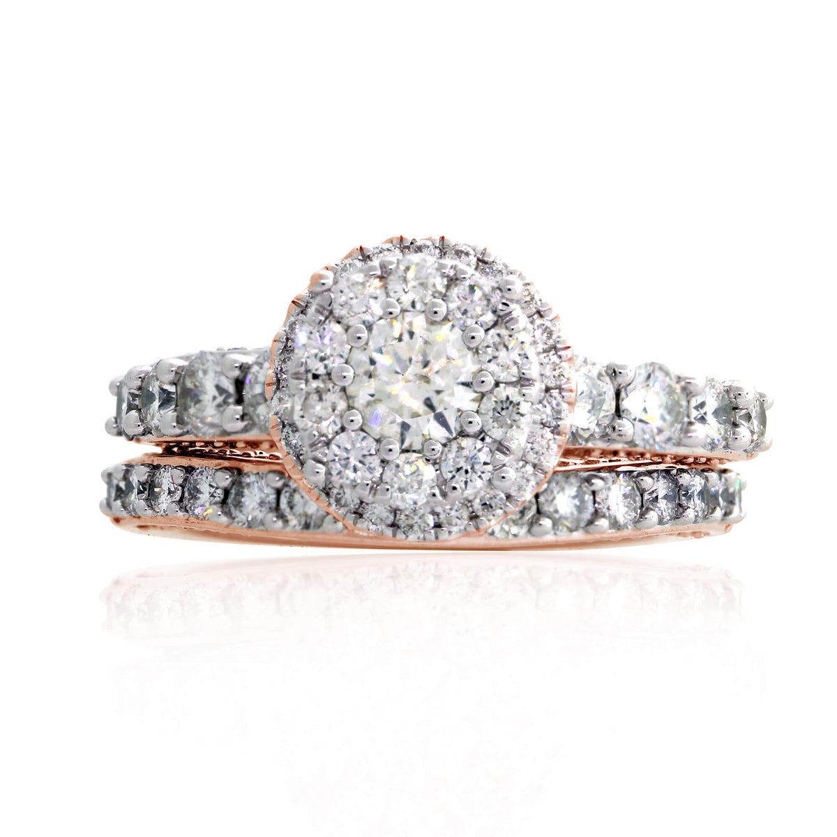 Miché Collection 2.51 Ct Diamond Cluster Engagement Set in 14k Gold