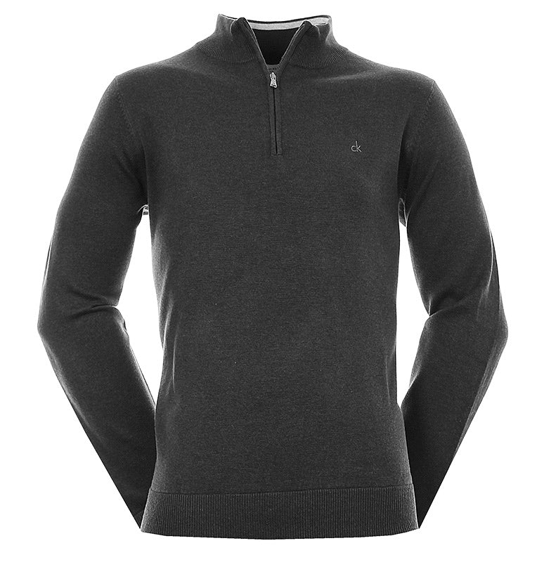 Calvin Klein Golf Heather Half Zip Sweater C9144