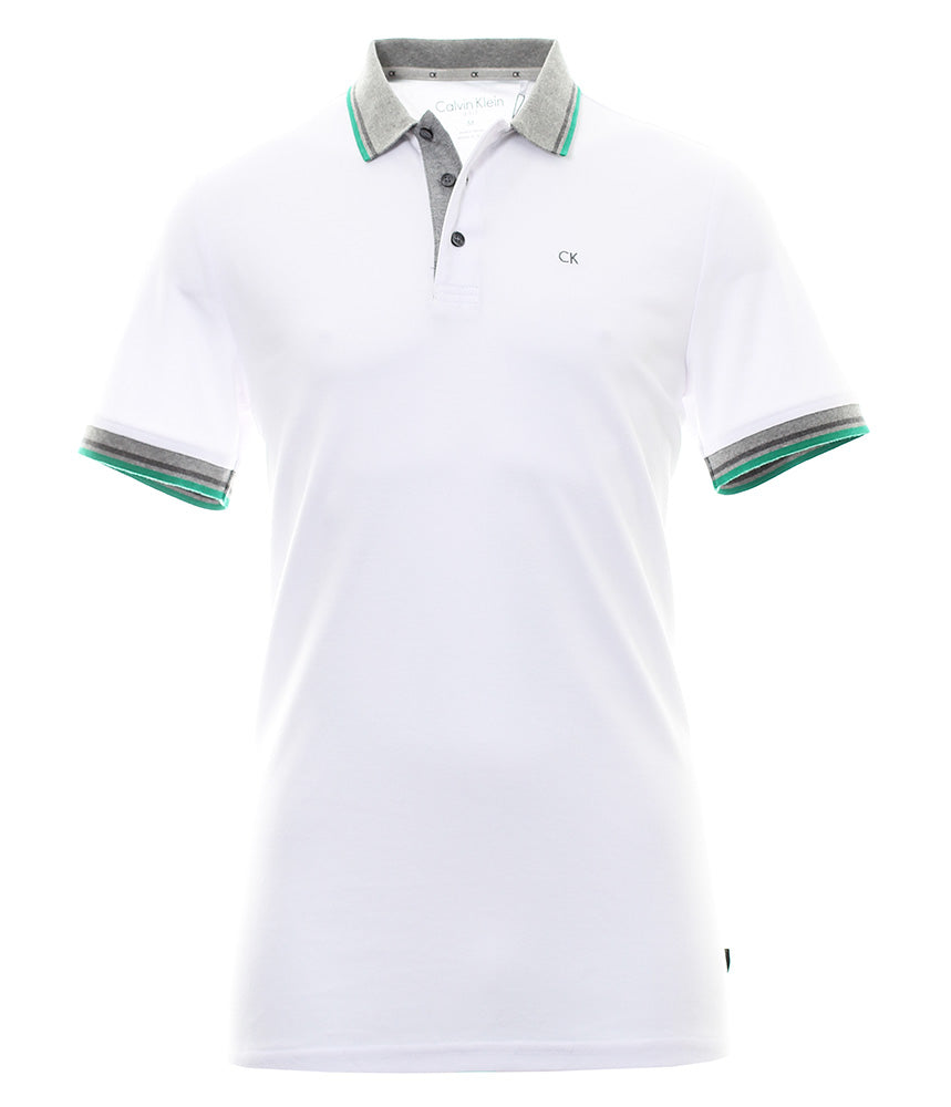 Calvin Klein Golf Stripe Collar Shirt C9162