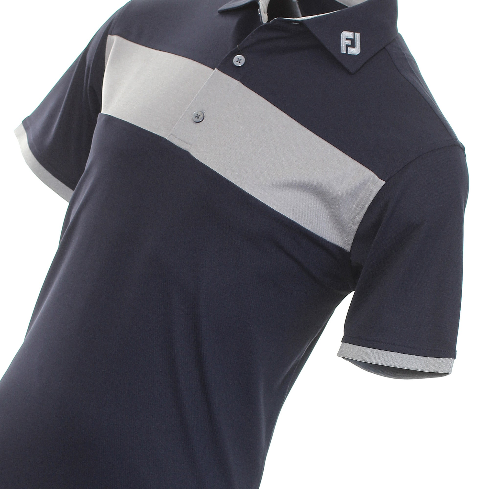 FootJoy Heather Pieced Stripe Golf Shirt