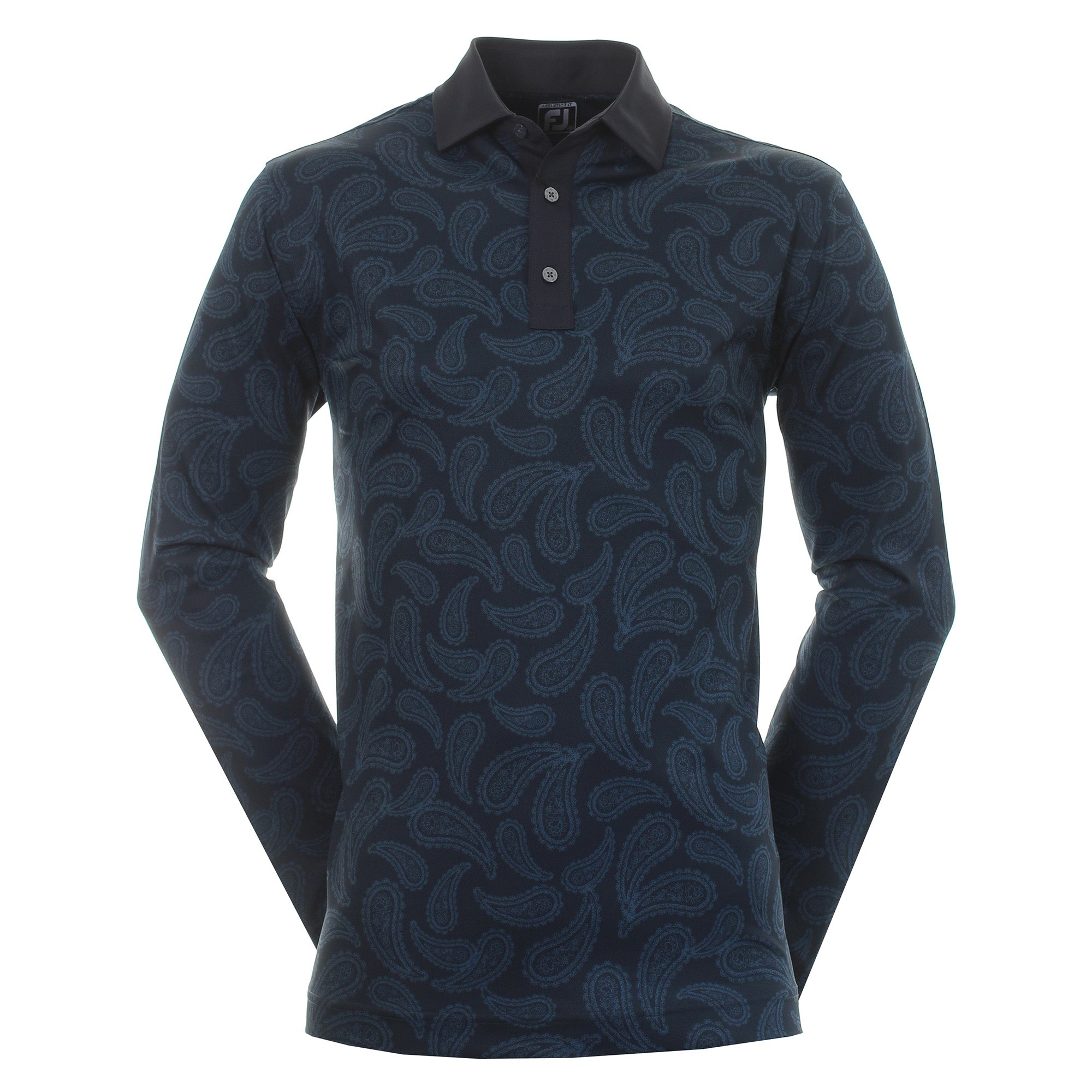 FootJoy Long Sleeve Paisley Print Golf Shirt