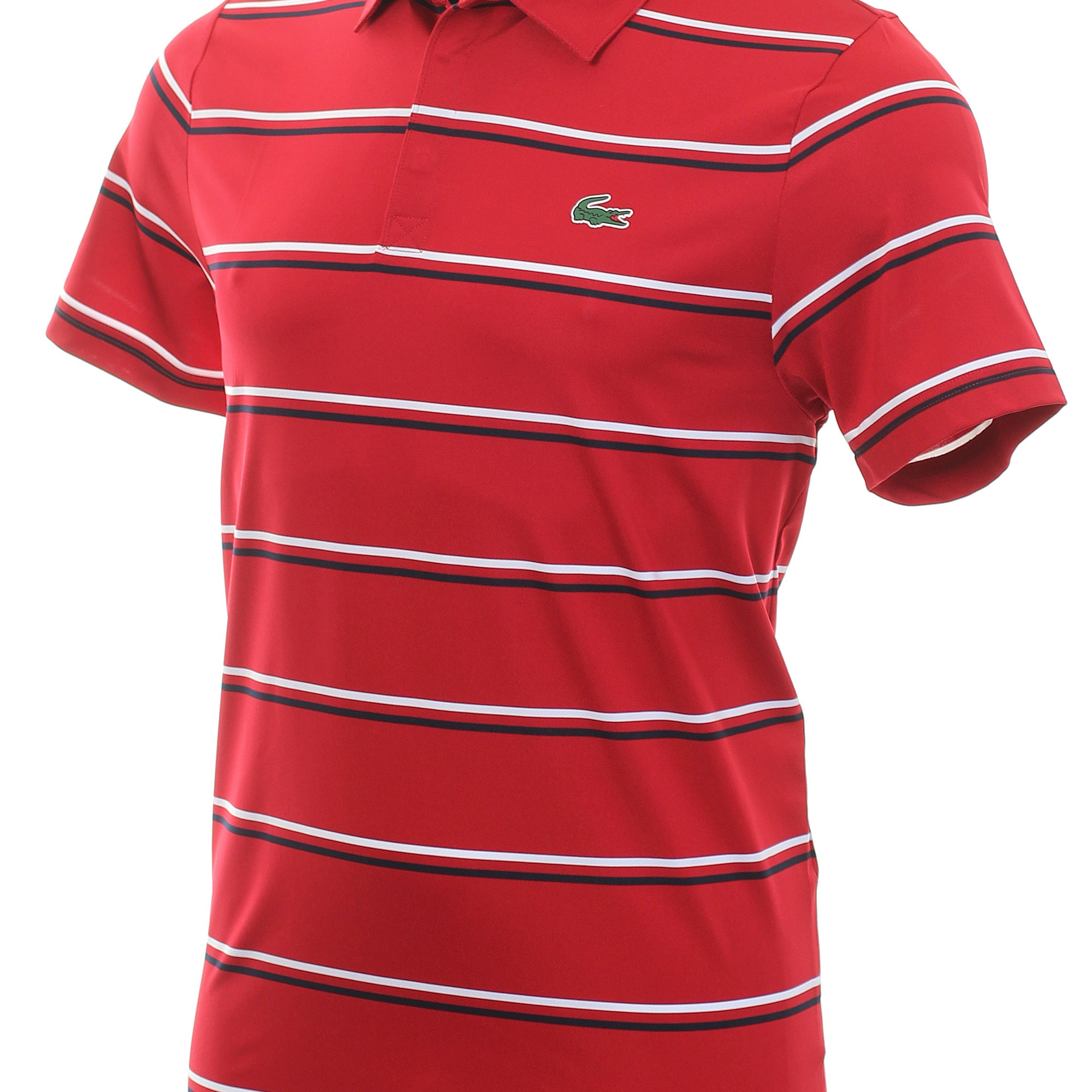 Lacoste Technical Stripe Jersey Polo Shirt DH8607