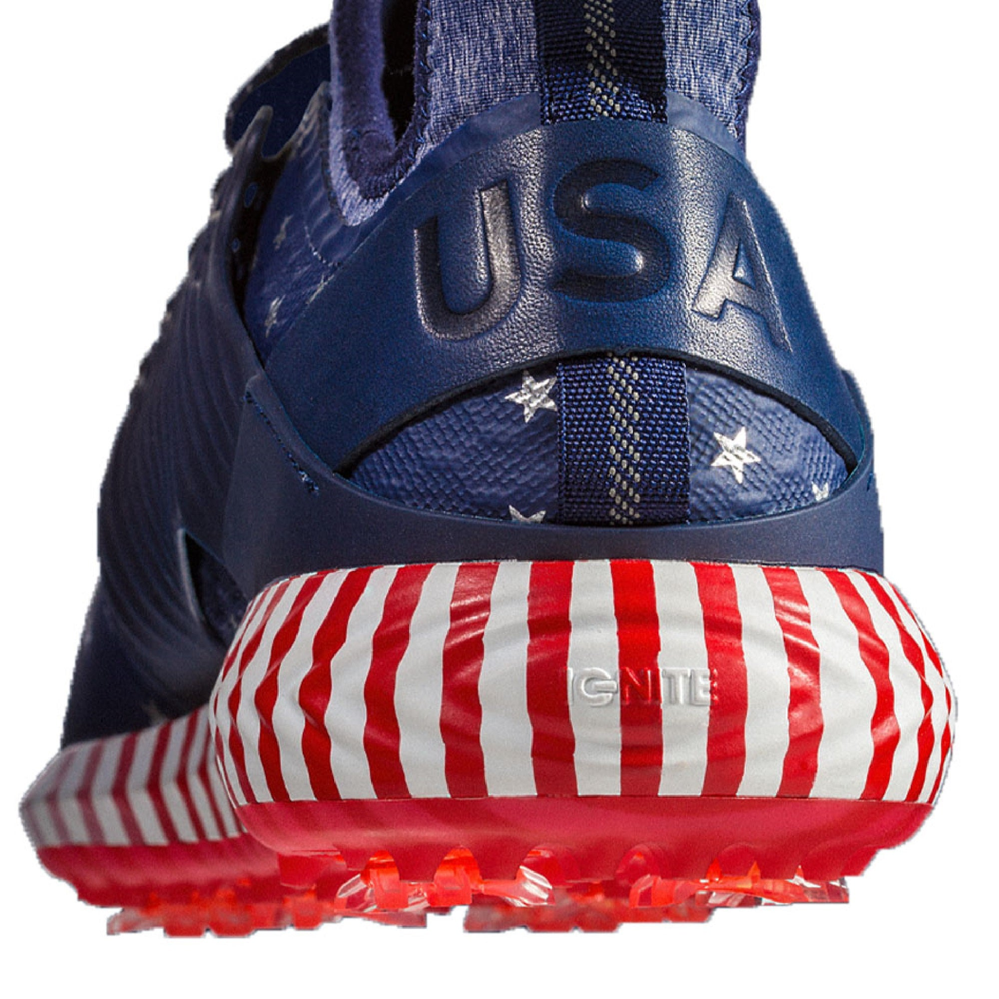 Puma Ignite PWRAdapt Caged Star Spangled Golf Shoes