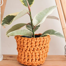 Load image into Gallery viewer, Flower pot crochet cozy