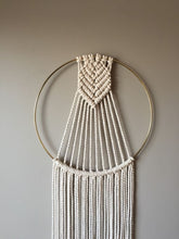 Load image into Gallery viewer, Pattern 6 - Round minimalist macrame wall hanging